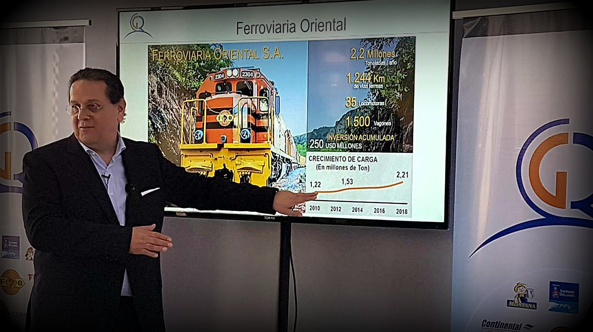 Candidato Tuto Quiroga plantea nacionalizar los ferrocarriles de Bolivia vinculados al empresario Carlos Gill