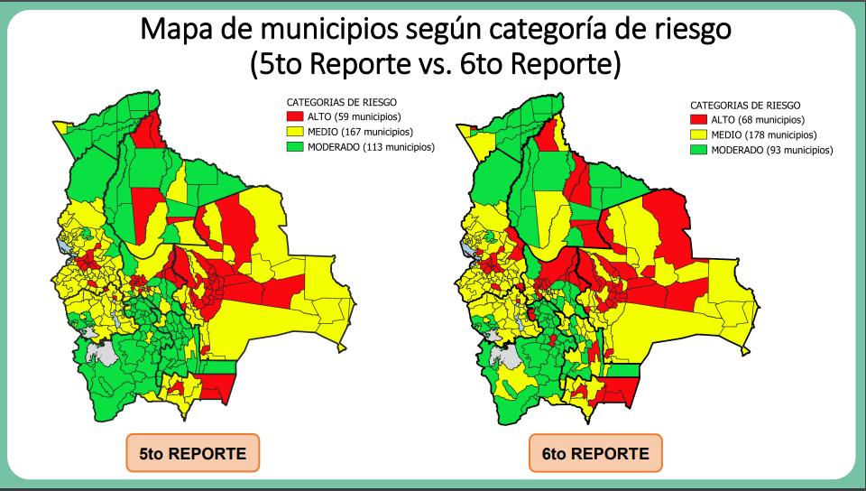 Municipios en riesgo alto suben de 59 a 68 en el país