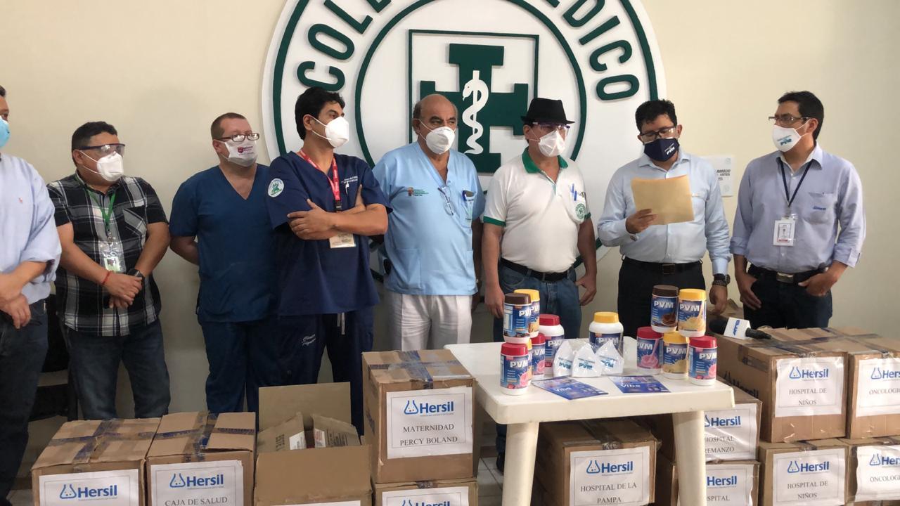 Laboratorio Hersil dona complemento nutricional para médicos