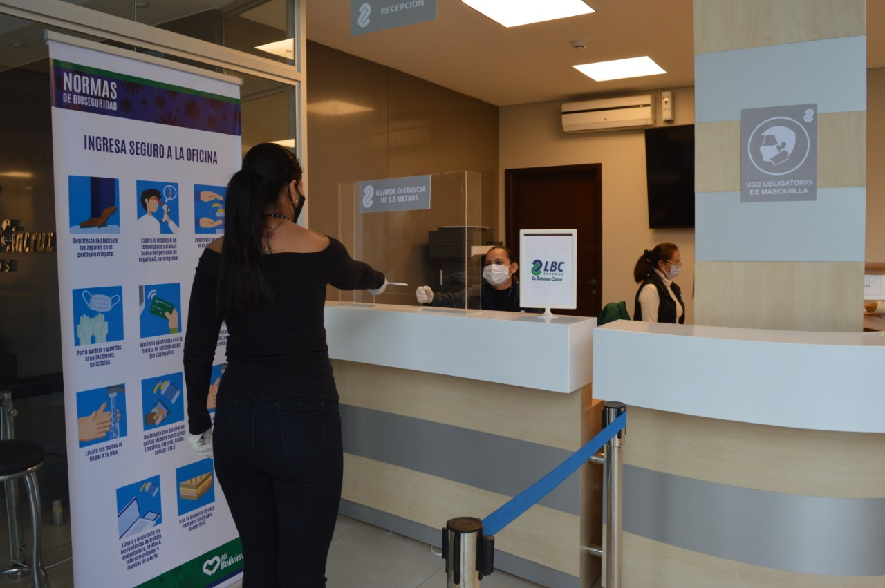 LBC Seguros abre sus oficinas en santa cruz con medidas de bioseguridad