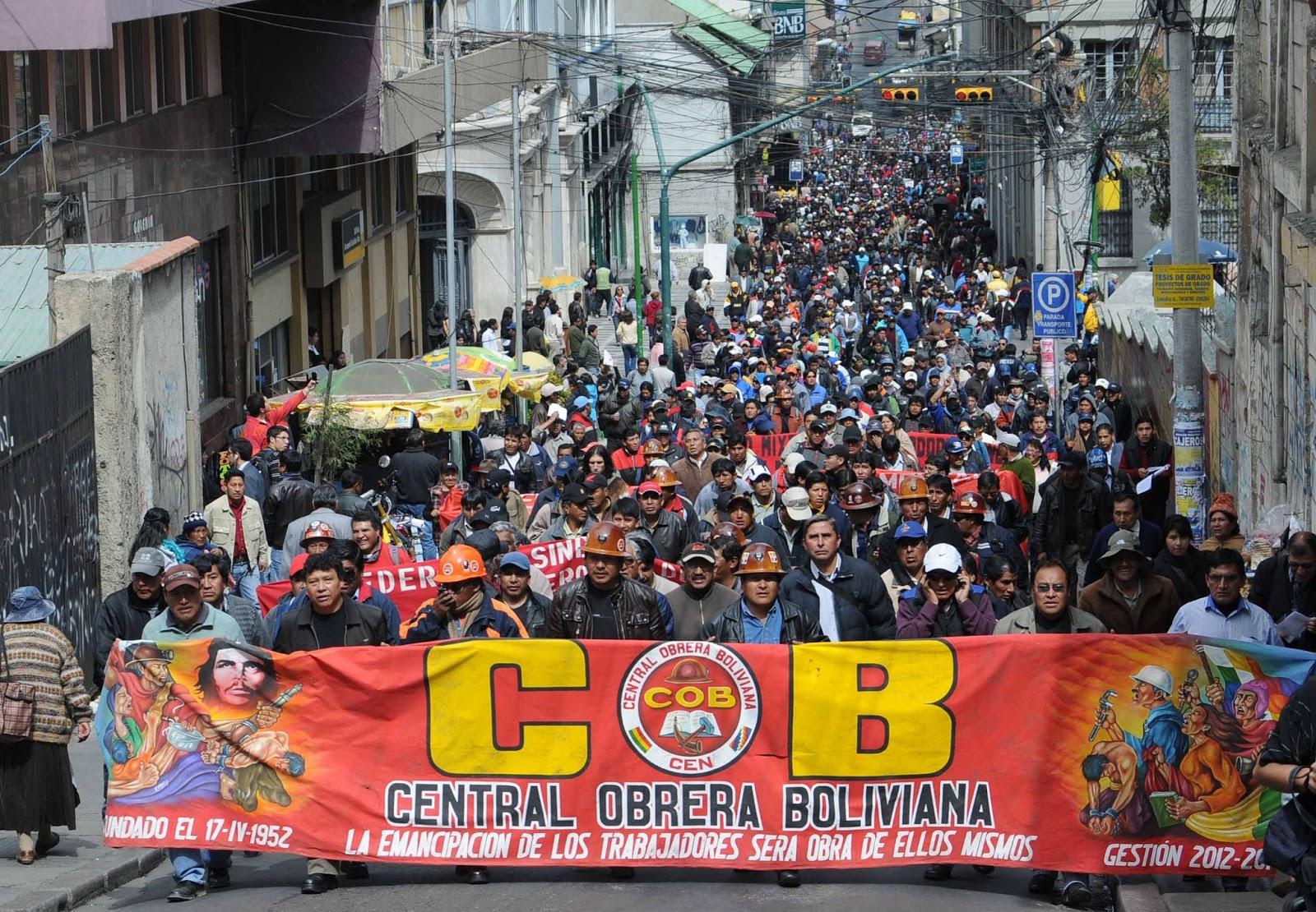 COB: La presión se radicalizará hasta que el Gobierno respete la CPE