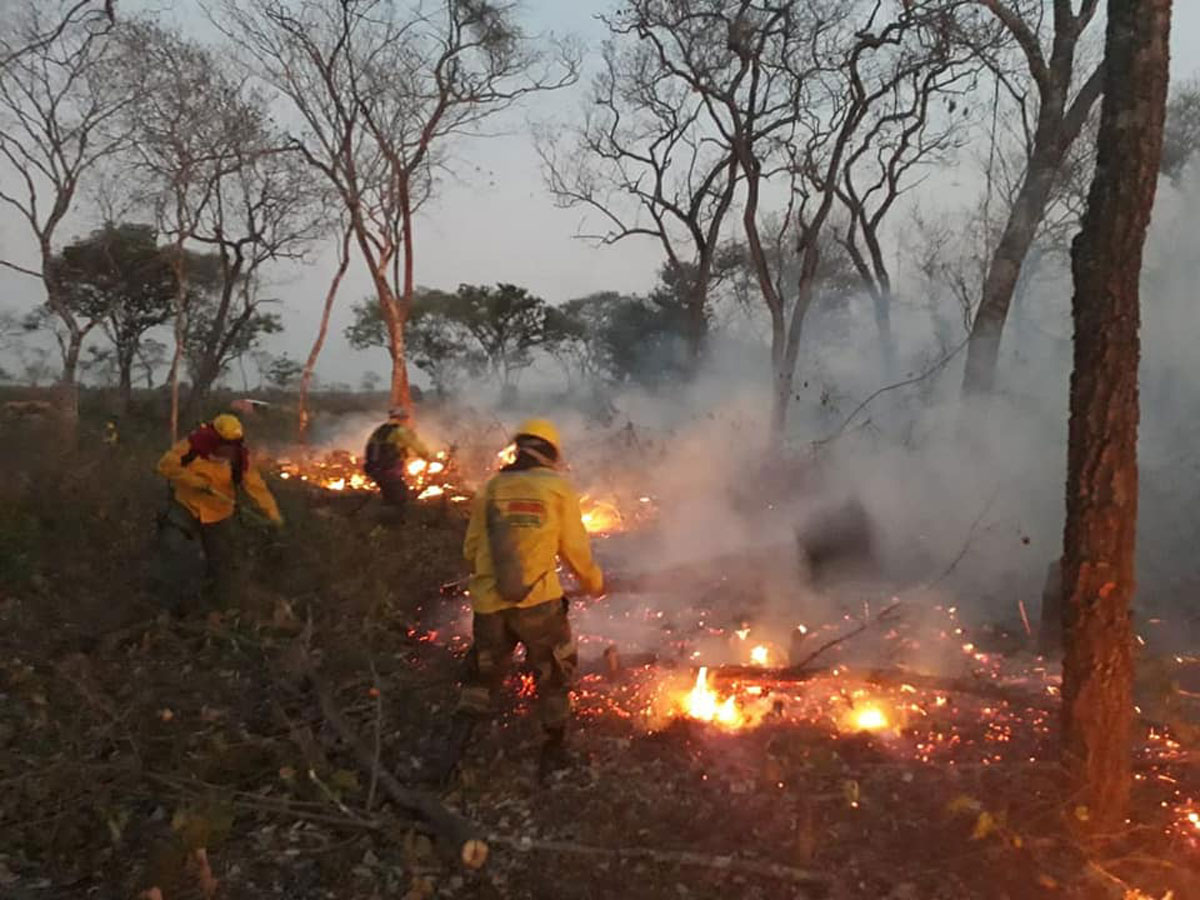 Reportan dos nuevos incendios forestales en San Matías y Laguna Concepción