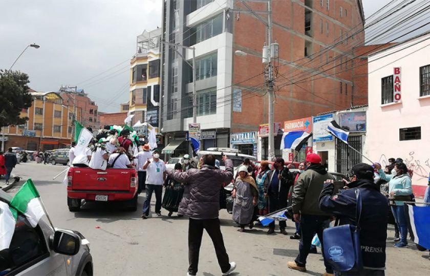 FPV denunció al MAS ante el TSE por agresiones físicas durante su caravana