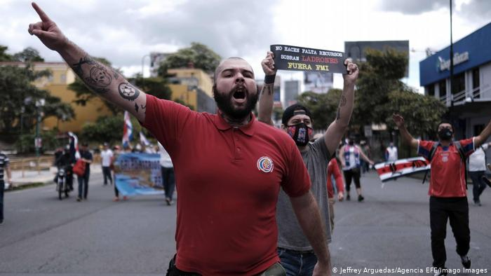 Costa Rica: tres días de protestas contra posible acuerdo con FMI