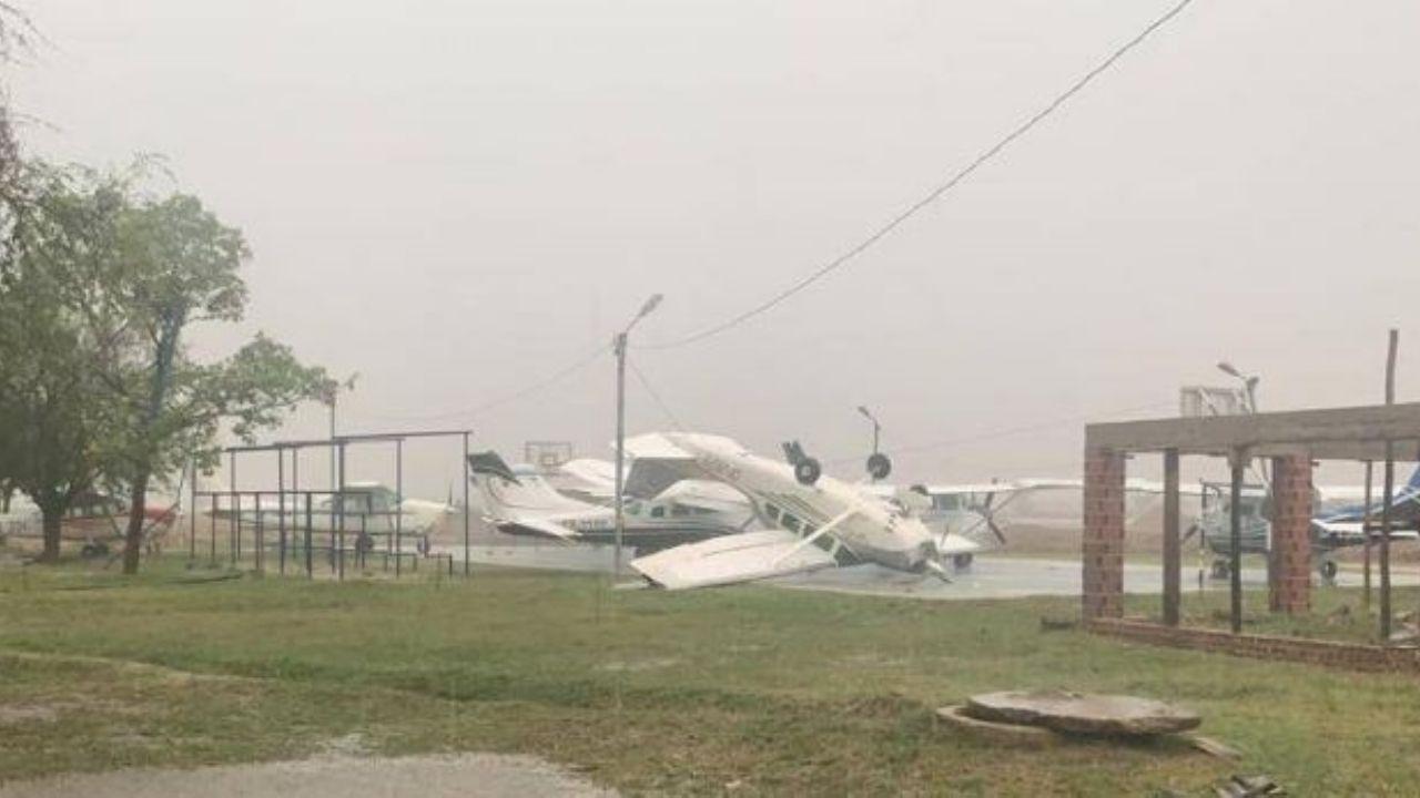 Fuertes vientos y granizo dejaron viviendas destechadas en Trinidad
