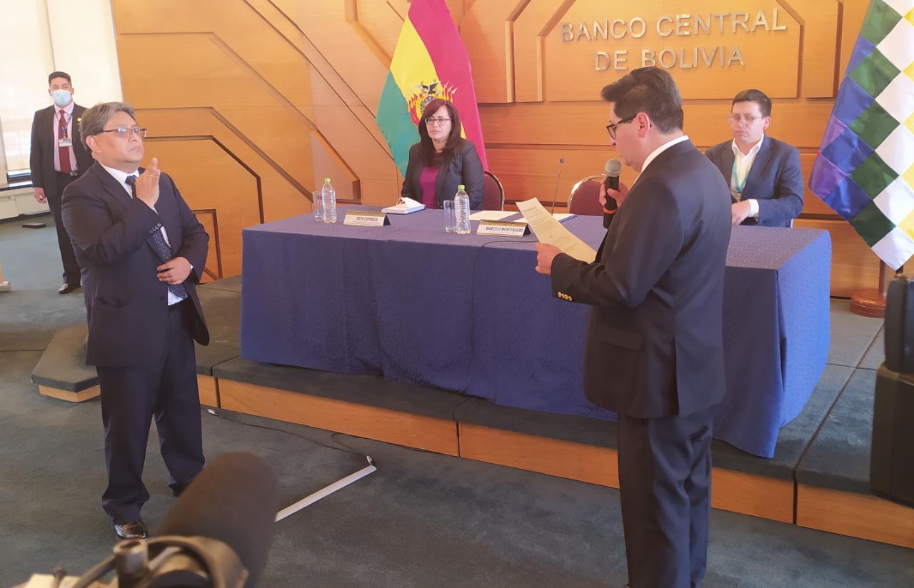 Edwin Rojas es el nuevo presidente del Banco Central de Bolivia