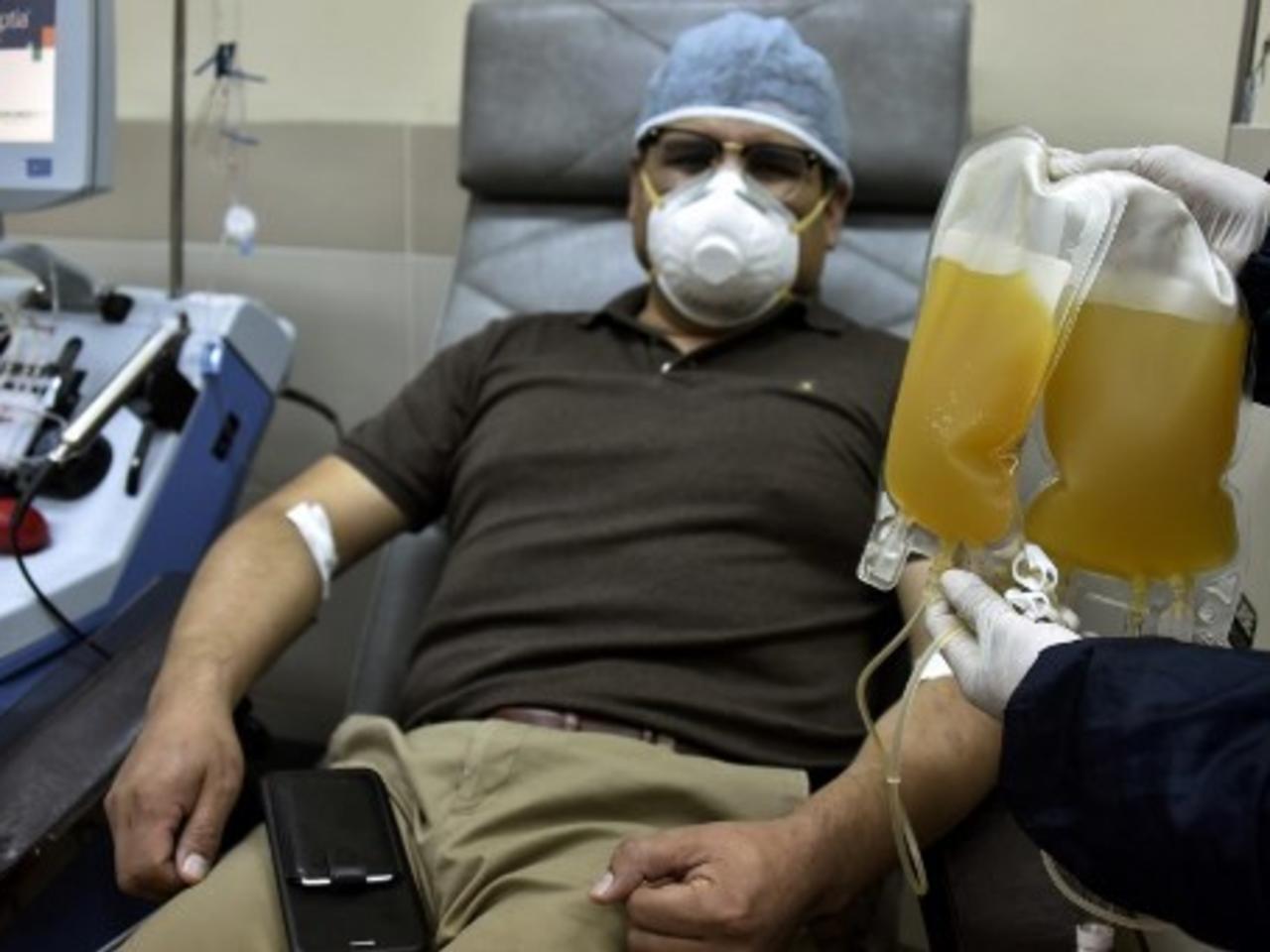 Con el rebrote de Covid-19, la demanda de plasma hiperinmune subió de 1 a 15 unidades por día