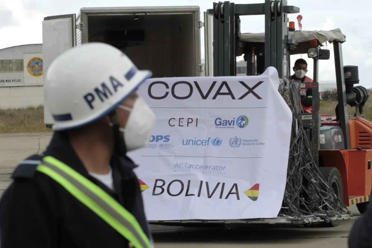 EE. UU. anuncia asignación de 5 millones de vacunas del Covax para Bolivia