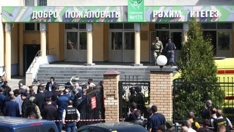 Mueren 7 alumnos y un profesor tras un tiroteo en una escuela en Rusia
