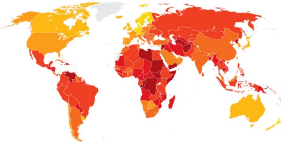 Estos son los países más corruptos en el mundo